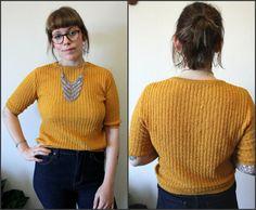 Vintage Dark Gold Soft Ribbed Knit Sweatshirt Sz by TheMilkCo