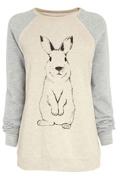 A bunny sweatshirt, because why not put more adorable in your day? :)