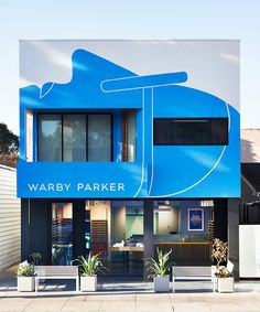 Mural Design for Exterior of Warby Parker's Venice Location - Geoff McFetridge