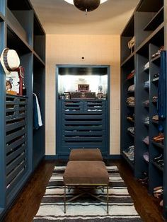 Nate Berkus' closet-  I don't like a lot of color but love the idea of it in a closet
