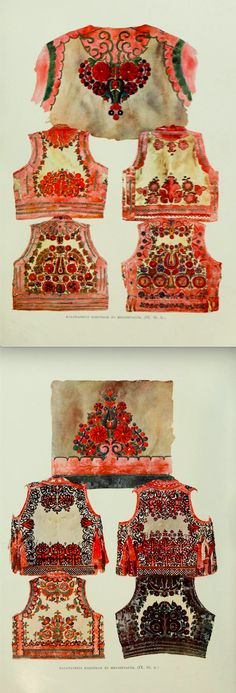 Hungarian folk costumes - Kalotaszeg aprons - A magyar nép mvészete : számos… Hungarian Embroidery, Folk Embroidery, Embroidery Stitches, Embroidery Patterns, Textiles, Folk Costume, Chain Stitch, Craft Patterns, Leather Art