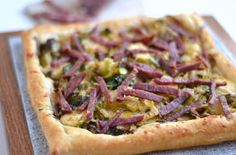 Salami, Brussel Sprout, and Parmesan Galette