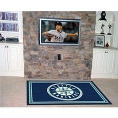 Seattle Mariners 5X8 ft Area Rug Floor/Door Carpet/Mat
