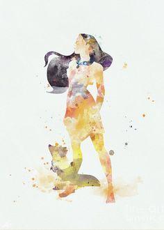 #disney #pocahontas #disneyprincess #watercolor