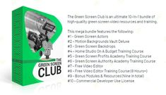 The Green Screen Club – what is it? The Green Screen Club is an ultimate bundle of high-quality green screen video resources and training. Green Screen Backdrop, Motion Backgrounds, Training Courses, Budgeting, Backdrops, Club, Marketing, Budget Organization, Backgrounds