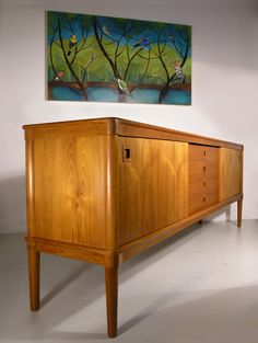 The construction of this piece is fabulous. H. W. Klein for Bramin teak sideboard from Hayloft Mid Century, UK. www.midcenturyhome.co.uk