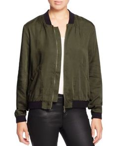 The season's bomber jacket trend takes flight in this color-blocked style from…