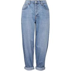 TOPSHOP MOTO Oversized Boyfriend Jeans (375 GTQ) ❤ liked on Polyvore featuring jeans, pants, bottoms, trousers, mid stone, slouchy jeans, boyfriend jeans, blue boyfriend jeans, boyfriend fit jeans and topshop jeans