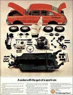 1970 Vintage Volkswagen Type 3 Print Ad Old by DoubleLMomEphemera Volkswagen Type 3, Volkswagen Karmann Ghia, Audi, Porsche, Vw Variant, Vw Modelle, Bugatti, Subaru, Kdf Wagen