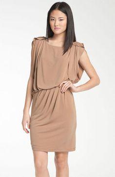 Vince Camuto Drape Sleeve Jersey Blouson Dress