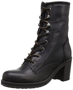 FRYE Womens Karen Lace Up Short Combat Boot  Black 85 M US ** Read more  at the image link.