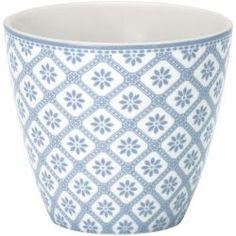 GreenGate Latte Cup Bianca Dusty Blue