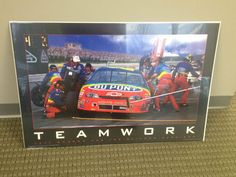 Jeff Gordon & Rainbow Warriors Teamwork Poster