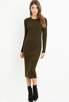 Ribbed Knit Midi Dress | Forever 21 - 2000141962