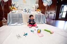 blue white korean dohl first birthday party ritual
