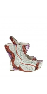 I want these shoes =)  Delilah Painted Snake Wedge