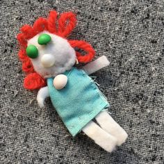 I've been sewing for as long as I can remember. I'm so glad that my mom kept a few of my earliest creations like this little doll I came across recently. It's sweet to be reminded of how far back my passion for creating goes.  #sewing #kids #roots #fabric #doll #origins