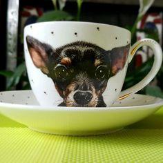Just from the kiln! A portrait of my friend's dog Tortik (little cake)