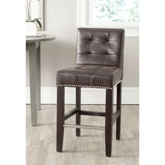 Safavieh Thompson Antique Brown Counter Stool | Overstock.com Shopping - Great Deals on Safavieh Bar Stools