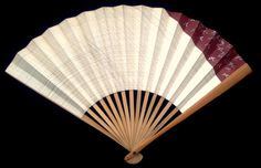 Vintage Japanese Hand Fan Paper Fan Sensu F157 Silver Plovers with Traditional Japanese Design