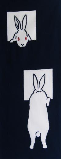 peek-a-boo bunny / Animal / Animal & Flower | Japanese Gifts TENUGUI online shop - wuhaonyc