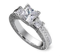 Celtic Trinity Knot Diamond Engagement Ring,Irish Jewelry, Rings Celtic Claddagh