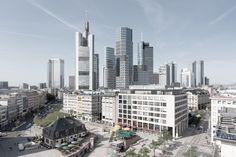 Deutsche Bank Areal Frankfurt raumwerk Gesellschaft für Architektur und Stadtplanung mbH 2016 #hotel #living #mixeduse #office #photomontage #shopping http://rdt.ac/e1261