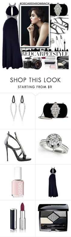 """Red Carpet Style: Hailee Steinfeld"" by chey-love ❤ liked on Polyvore featuring Oui, Badgley Mischka, Giuseppe Zanotti, Essie, Givenchy and Christian Dior"