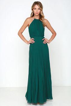Bariano Melissa Dark Green Maxi Dress