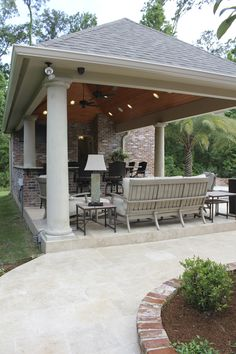 15' X 22' Custom Pool House Cabana With Outdoor Kitchen Bar