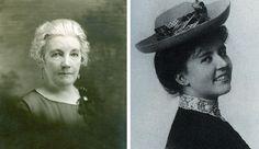 Laura Ingalls Wilder (date unknown) and Rose Wilder Lane (ca. 1908). Herbert Hoover Library.