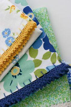 Mid Make: Crochet Edged Pillowcases - Flax & Twine