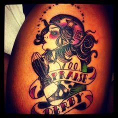 My Roller Derby tattoo (: