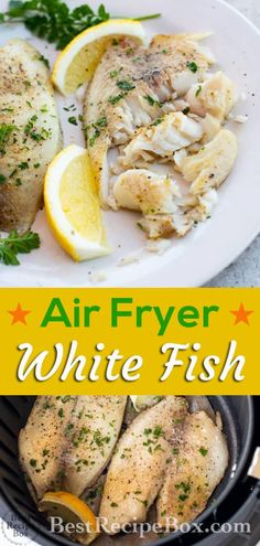 Air Fryer White Fish Recipe or Healthy Tilapia Recipe fryer recipes healthy fish Air Fryer White Fish White Fish, Garlic, Lemon Pepper Air Fryer Tilapia Recipe, Air Fryer Fish Recipes, Air Frier Recipes, Air Fryer Dinner Recipes, Fish Recipe For Air Fryer, Fisher, Air Fryer Healthy, Fish Dinner, Calories