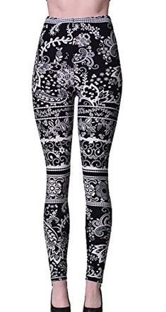 e8e24013b806d8 VIV Collection Plus Size Printed Brushed Leggings (Nightt... Workout  Leggings
