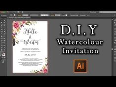 Marvelous Picture of Diy Watercolor Wedding Invitations Diy Watercolor Wedding Invitations Diy Watercolour Flower Invitation Tutorial How To Make Wedding Invitation Fonts, Flower Invitation, Wedding Stationery, How To Make Invitations, Diy Invitations, Invites, Web Design, Graphic Design, Vector Design