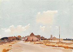 Edward Seago . watercolour.