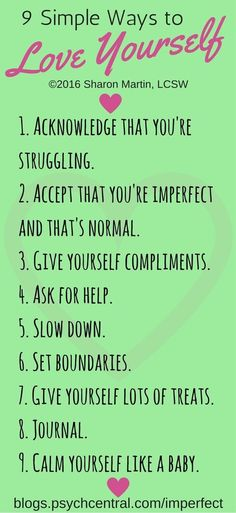9 Simple Ways to Show Yourself Love