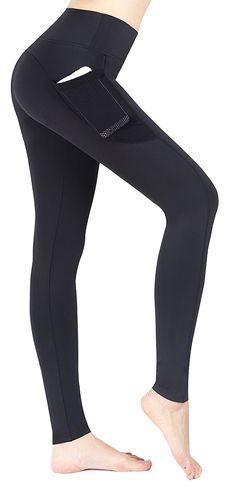 eaa4618f9650e Neonysweets Women's Ladies Workout Leggings With Pocket Running Yoga Pants  Ankle Tights * Read more at the image link.