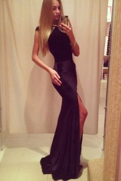 Side Slit Fishtail Maxi Evening Party Dress Wholesale Clothing a4258bfcf6f6