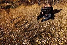Love in the Fall Couple Portrait / Engagement Photography Glitzz Photography