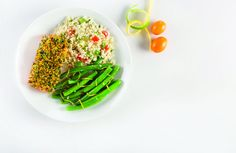 Citrus Salmon with Couscous and Green Beans