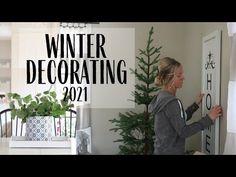 Winter Decor 2021 - YouTube White Cottage, Cottage Style, Shabby Chic Crafts, Winter Scenes, My New Room, Winter White, Home Decor Inspiration, Farmhouse Decor, Modern Design