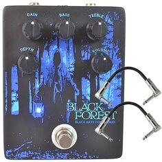 Black Arts Toneworks Black Forest Multi-Effects Guitar Pedal What you have here is a throwback to the glory days of rock and roll, with a Black Arts twist. The Black Forest takes a celebrated circuit and drags it through the dirt. More gain, more fatness. A six way selector allows you to set your gain/low end/voicing along with Fuzz, Bass, Treble and Volume. This forest grew with the helping hand of a tone god. Treat it with care; allow future generations to behold the beauty that is the…