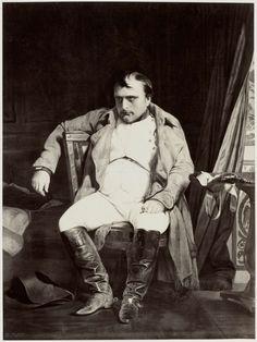 Robert Jefferson Bingham | Fotoreproductie van schilderij door Paul Delaroche: Napoleon a Fontainebleau, Robert Jefferson Bingham, Goupil & Cie, 1858 |