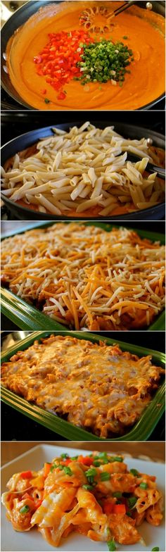 Cheesy Chicken Enchilada Pasta / Chez's Note: Delicious! This is definitely one of my favorites. Be warned, though - if you follow the directions, it makes a ridiculous amount. I'm thinking I will cut it in half next time and still have leftovers for awhile!