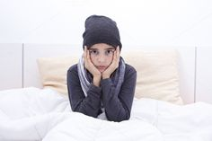 sheltered child in bed by pruden.alvarez on Creative Market