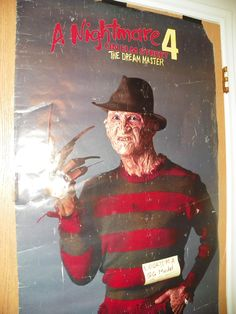 My Freddy Krueger door-sized poster!