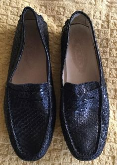 Tod's Snakeskin Black Loafer Driving Shoes Women's SZ-7/37  | eBay
