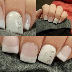My nails this week.... Silver lace lovely